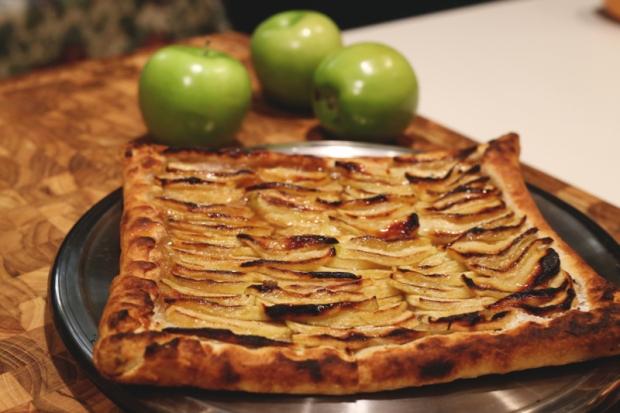 Salted Brûléed Apple Tart